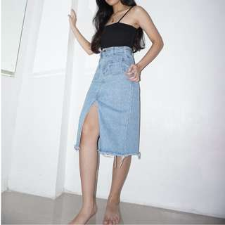 Mid Denim Skirt