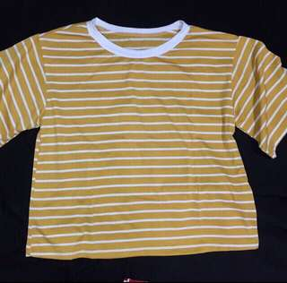 🌻 NEW! REPRICE! YELLOW STRIPED SHIRT
