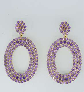 Earring with Amathyst , 10k gold and silver