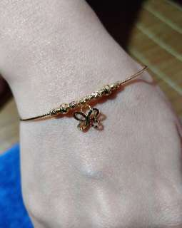 18k Saudi Gold Butterfly Bangle