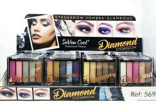DIAMON EYESHADOW - SEVEN COLOR EYESHADOW PALETTE DIAMON GLAMROUS
