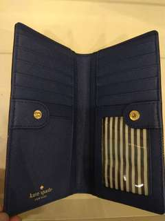 wallet stacy navy kate spade