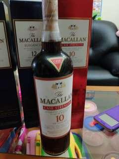 罕有,已停止生產,绝版麥卡倫59.3%原酒1公升1000ml with box.
