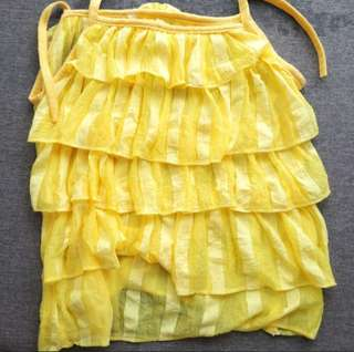 Yellow top for girls 18-24month