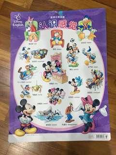 🚚 Disney characters Wall chart