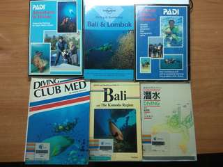 A Lot of Books for Diving & Snorkeling Lovers, total 6 pcs