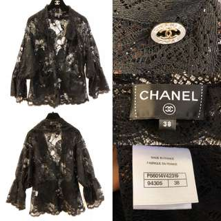 Chanel see through lace top size 38