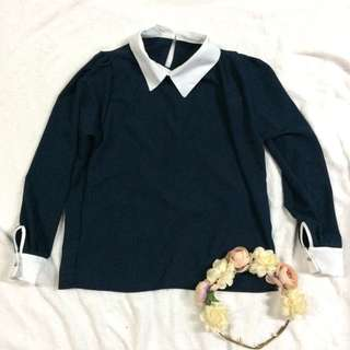 Korean-inspired Collared Top