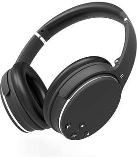 (178) Noise Cancelling Headphones ANC Bluetooth AXCEED Wireless Foldable Over-Ear Headsets Remote Control with Deep Bass Stereo Built-in Microphone Detachable Cable