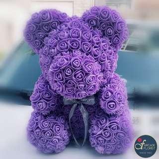40cm Immortal Soap Rose Teddy Bear