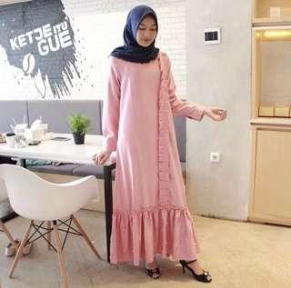 Aliya pearl l atasan fashion baju muslim gamis mutiara gamis balotelli wanita