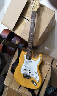 Morrison Electric Guitar with amplifier