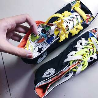 ORIGINAL Converse All Star Chuck Taylor Double Upper High (limited edition) ORIGINAL sepatu wanita pria Unisex