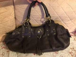 BCBG deep brown leather bag 皮袋