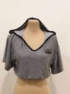 Bershka cropped short sleeve hoodie