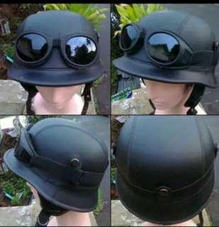 Helm retro vespa classic nazi