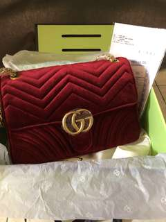 Gucci Marmont in Velvet Maroon (reduce price)