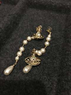 Vivienne Westwood pearl drop earrings gold