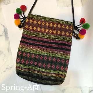 🚚 [泰國挖寶]民俗風編織小包—Spring款
