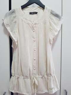 Sifon frill blouse