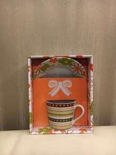 Print cup & saucer (Daiso)