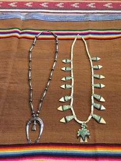 🚚 老品Navajo 項鍊 雷鳥 中村世紀 銀器 naja Visvim 印地安 騎士 古董 古著 月牙