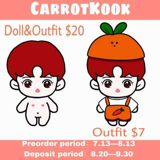 JUNGKOOK - CarrotKook doll