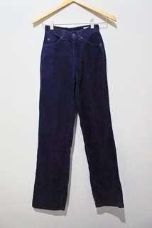 Celana Corduroy Navy Blue