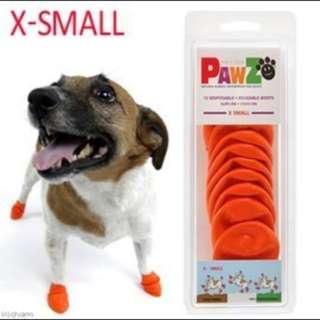 美國 PAWZ《寵物橡膠鞋套》 XS 「黑色」