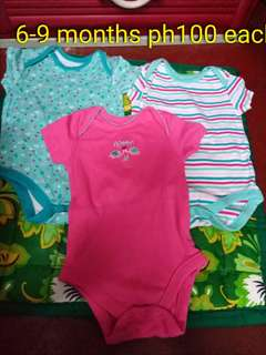 Preloved 6-9 months php 100 each