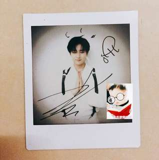 [WTS] Changkyun signed polaroid (VIP benefit in Thailand)