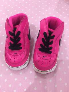 Pink Nike Baby Force 1