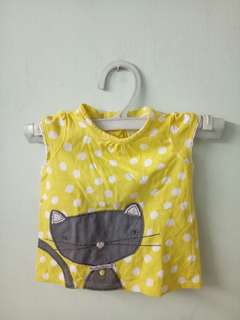 Polka Dots Blouse (With Free 2 Bonnets)