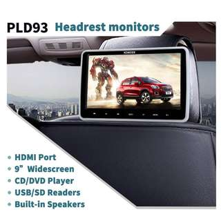 937. KEWEIER 10.1 Inch TFT LCD Wide Digital Screen Touch Button Ultra-thin Car Headrest DVD Detachable with HDMI Port and Remote Control