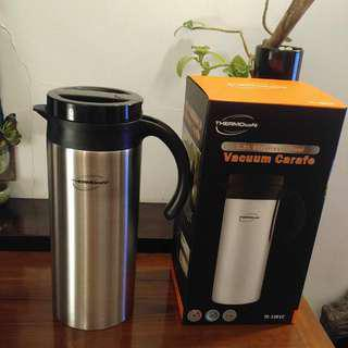NEW Thermocafe BY Thermos 1.2L Stainless Steel Carafe TC- 1201C 全新 膳魔師旗下的Thermocafe 1.2公升 不銹鋼保溫壺 TC- 1201C Thermo Cafe