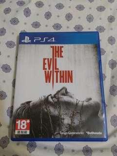 PS4 邪靈入侵 The Evil Within 中文版 二手