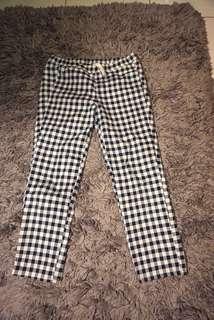 uniqlo tartan blue flanel pants