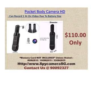 Pocket Body Camera HD