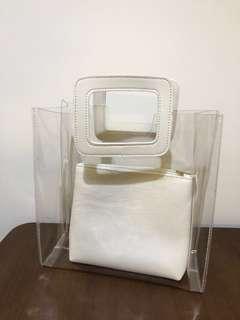透明手袋包 果涷 Transparent handbag