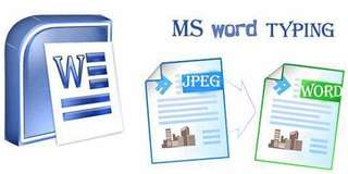 TYPING JOB (DATA ENTRY/MS WORD TYPING)