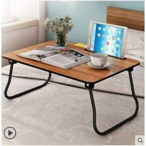LAPTOP TABLE DESK WOODEN BAMBOO FOLDING BREAKFAST BED SERVING