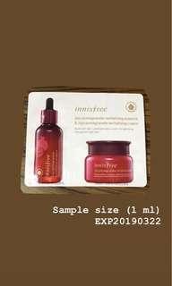 Freebie: Innisfree Essence and Cream