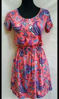 Amy Dress ( 3buttons w/pocket )  Size: fit from small to large