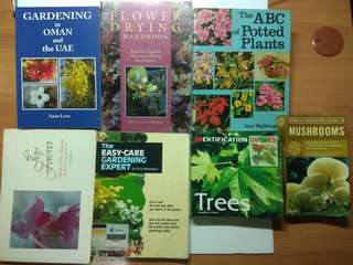 A Lot of Books for Gardens & Flowers Lovers, total 7 pcs