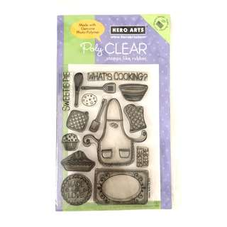 Hero arts kitchen cooking cake clear cling rubber stamps
