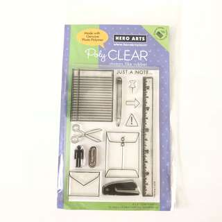 Hero arts stationery clear cling rubber stamps