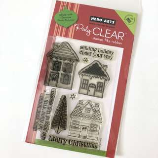 Hero Arts Christmas holiday clear cling rubber stamps