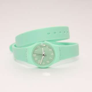 Target Xhilaration Mint Green Rubber Wrap Watch