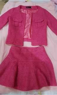 One Set (Blazer + Skirt) Pink