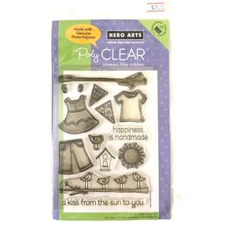 Hero arts clothings spring clear cling rubber stamp